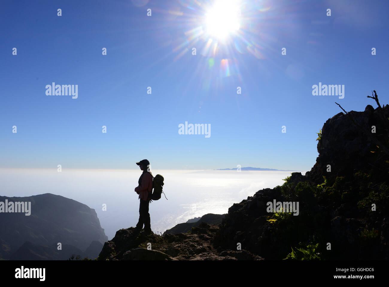 Wandern im Teno-Gebirge, El Palmar, Teneriffa, Kanarische Inseln, Spanien Stockbild