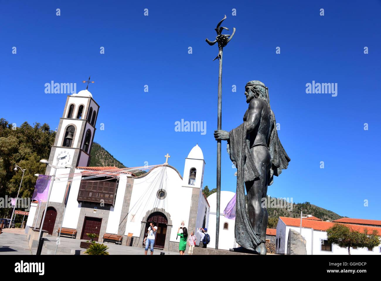 Kirche, Santiago del Teide, Teneriffa, Kanarische Inseln, Spanien Stockbild