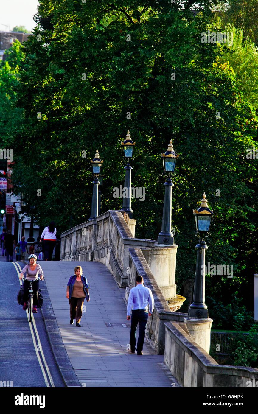 Richmond Bridge, Richmond upon Thames, Surrey, England, Vereinigtes Königreich Stockbild