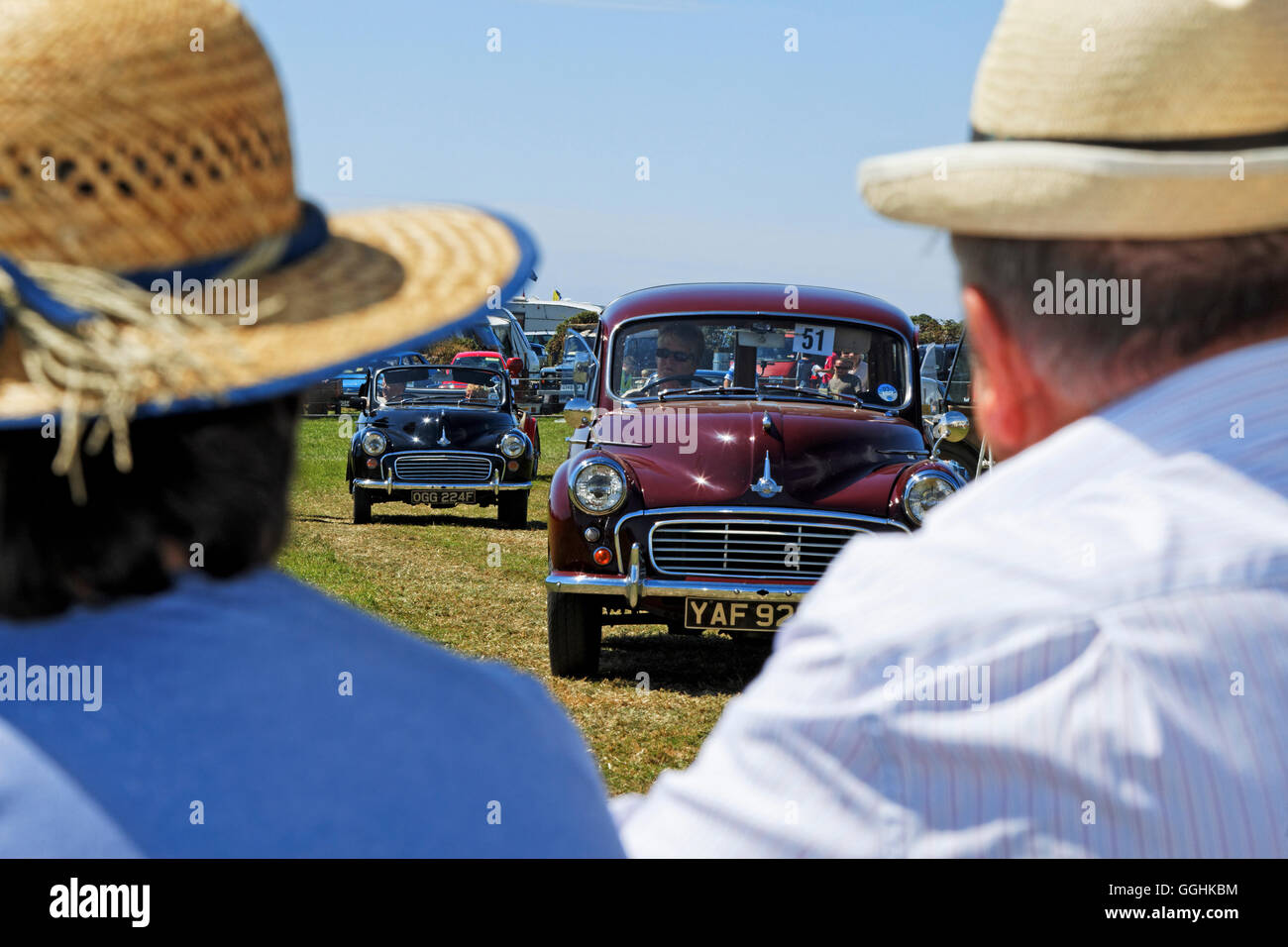 Oldtimer Rallye, Cornwall, England, Großbritannien Stockbild