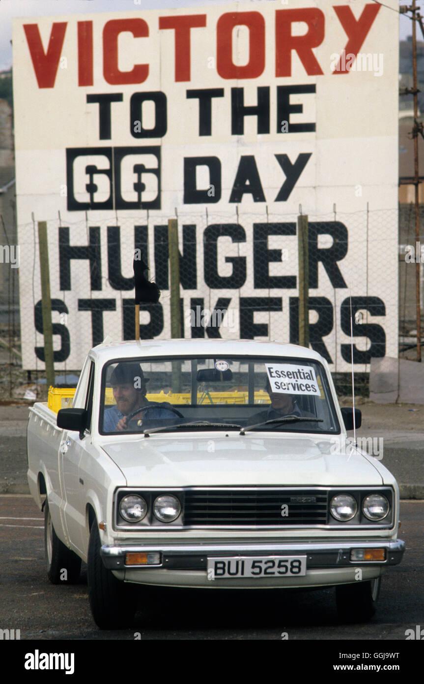 Die Mühen Derry Londonderry Nord Irland 1981 HOMER SYKES Stockbild