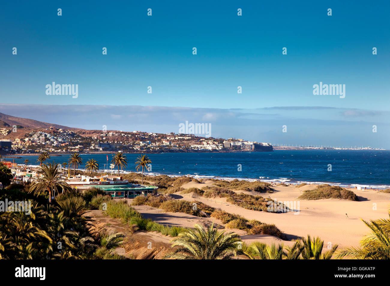 Maspalomas Dünen, Playa de Ingles, Gran Canaria, Kanarische Inseln, Spanien Stockbild