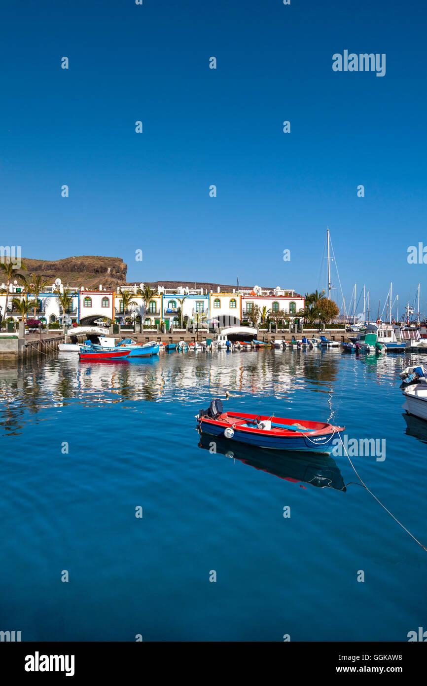 Hafen Sie bei Puerto de Mogan, Gran Canaria, Kanarische Inseln, Spanien Stockbild