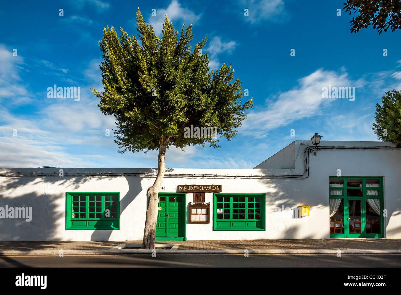 Restaurant, Yaiza, Lanzarote, Kanarische Inseln, Spanien Stockbild