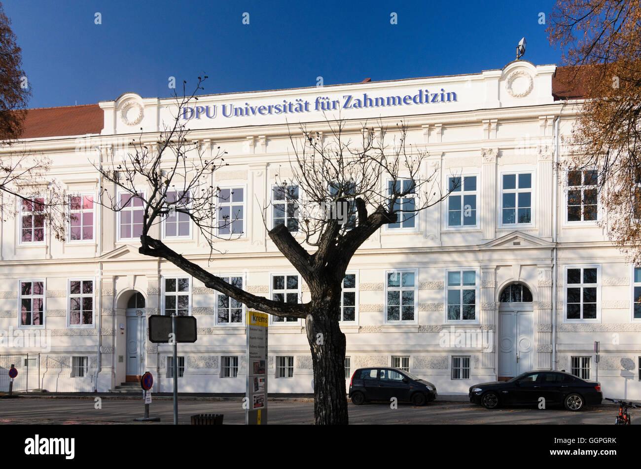 Krems An Der Donau Universitat Fur Zahnmedizin Osterreich Niederosterreich Niederosterreich Wachau Stockfotografie Alamy