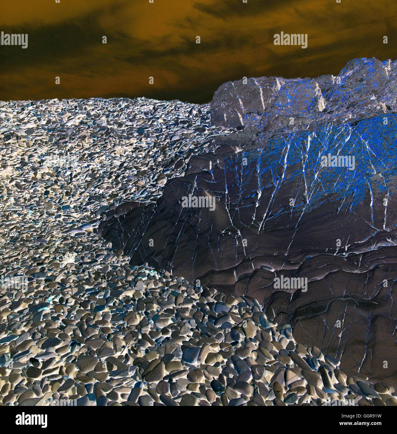 Digitale Kunst Natur - Rock2 Stockbild