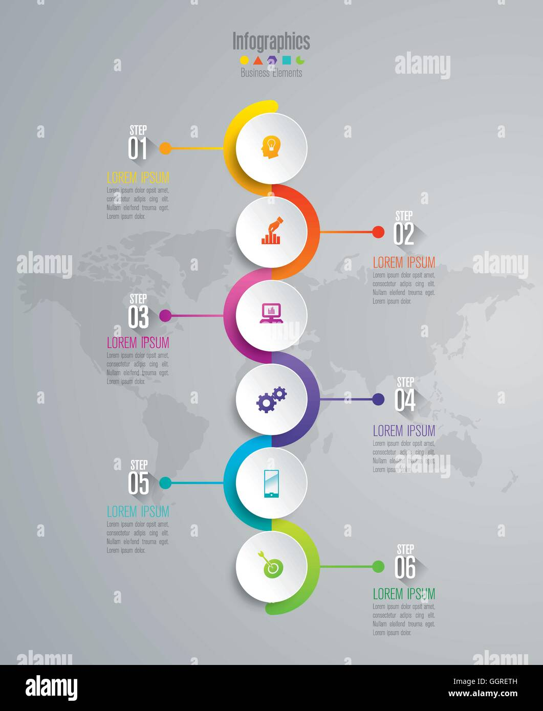 Timeline Infographics Template Stockfotos & Timeline Infographics ...
