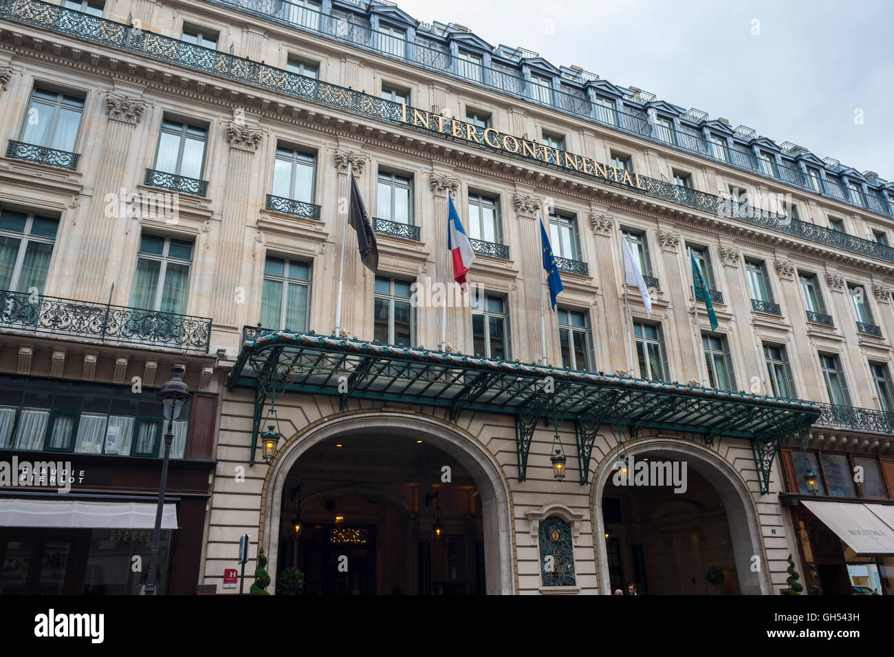 intercontinental paris grand hotel stockfotos. Black Bedroom Furniture Sets. Home Design Ideas
