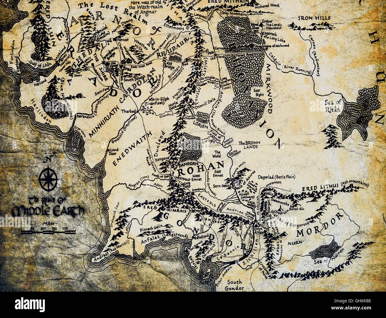 Mittelerde Karte Herr Der Ringe.Karte Von Mittelerde Aus Der Herr Der Ringe Von Jrr Tolkien