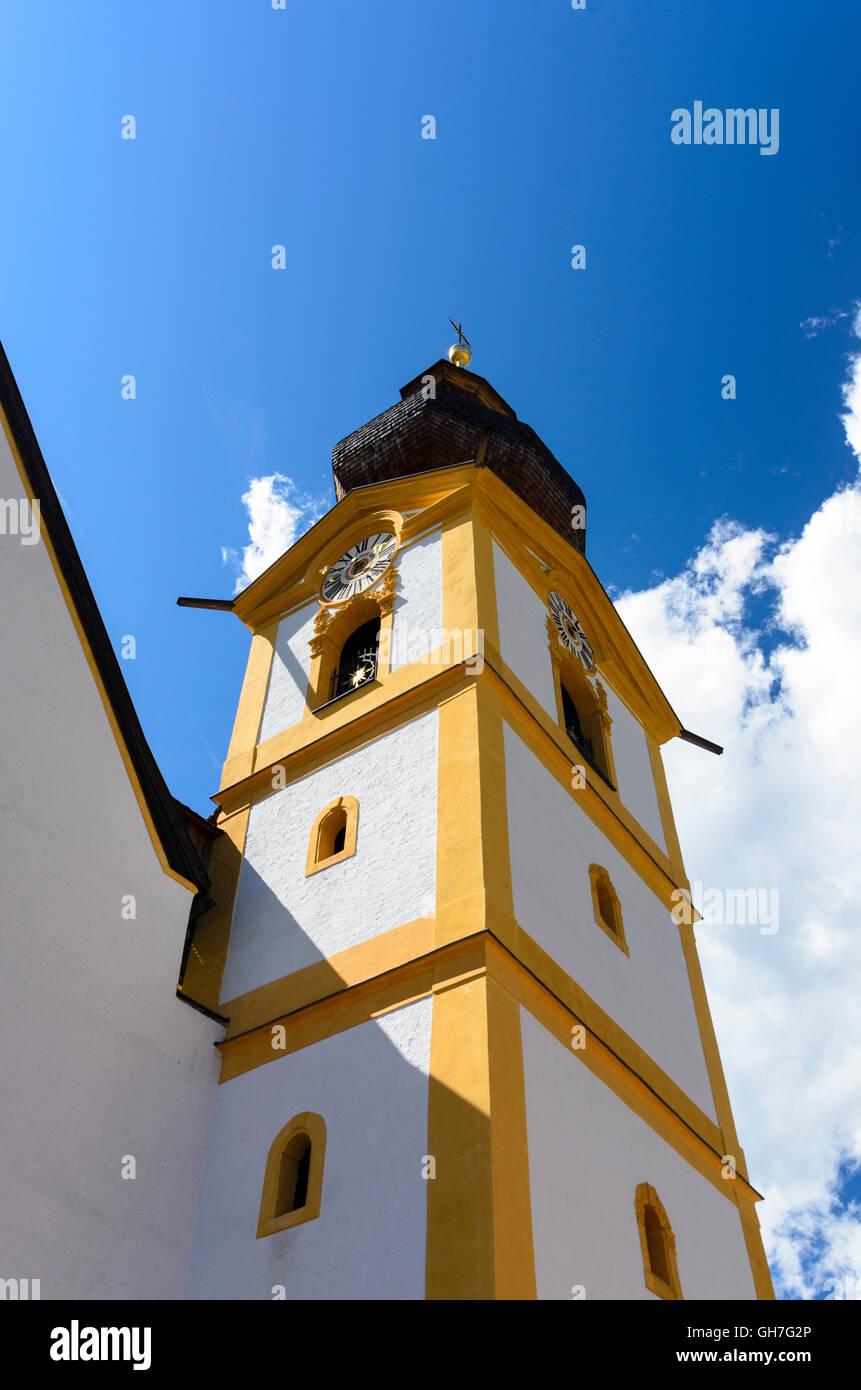 Werfen: Kirche Hl. Jakobus Dem Älteren, Österreich, Salzburg, Pongau Stockbild