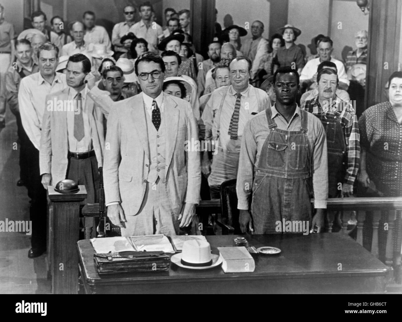 WER sterben NACHTIGALL STÖRT eine Spottdrossel USA 1962-Robert Mulligan-Alabama töten 1932: Rechtsanwalt Stockbild