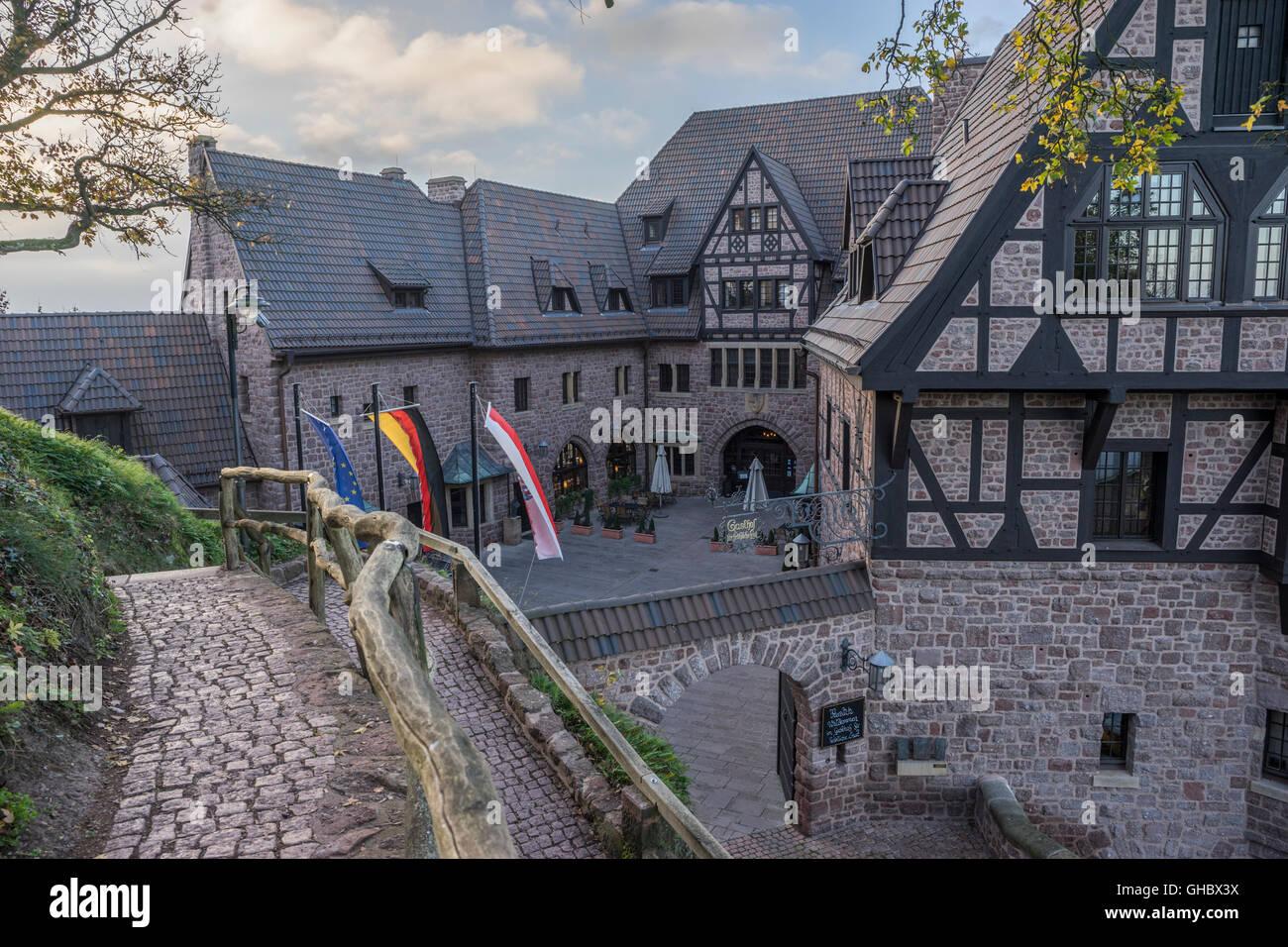 Geographie/Reisen, Deutschland, Thüringen, Eisenach, Romantik Hotel auf der Wartburg, Additional-Rights - Clearance Stockbild
