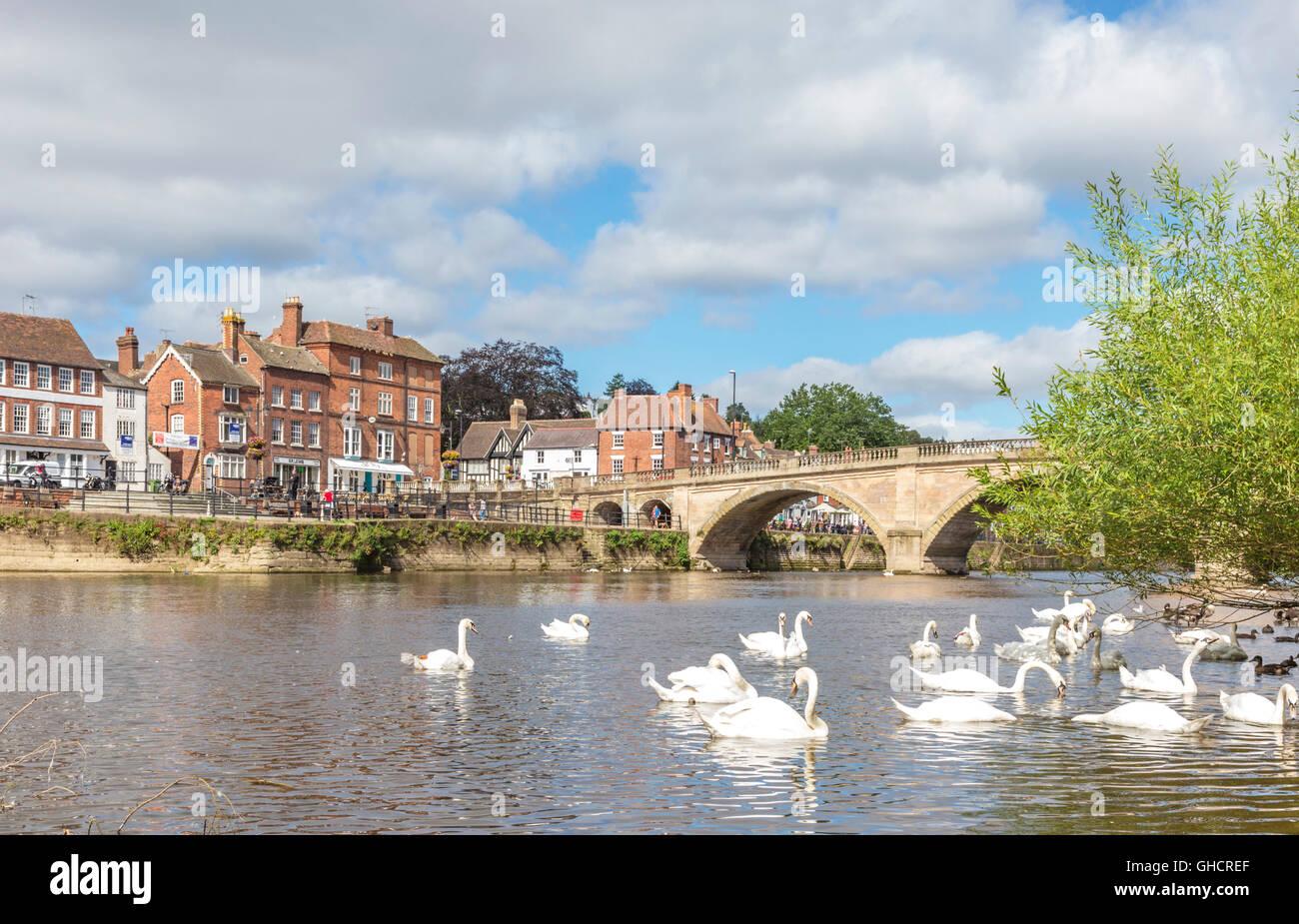 Die am Fluss Stadt Bewdley, Worcestershire, England, UK Stockbild