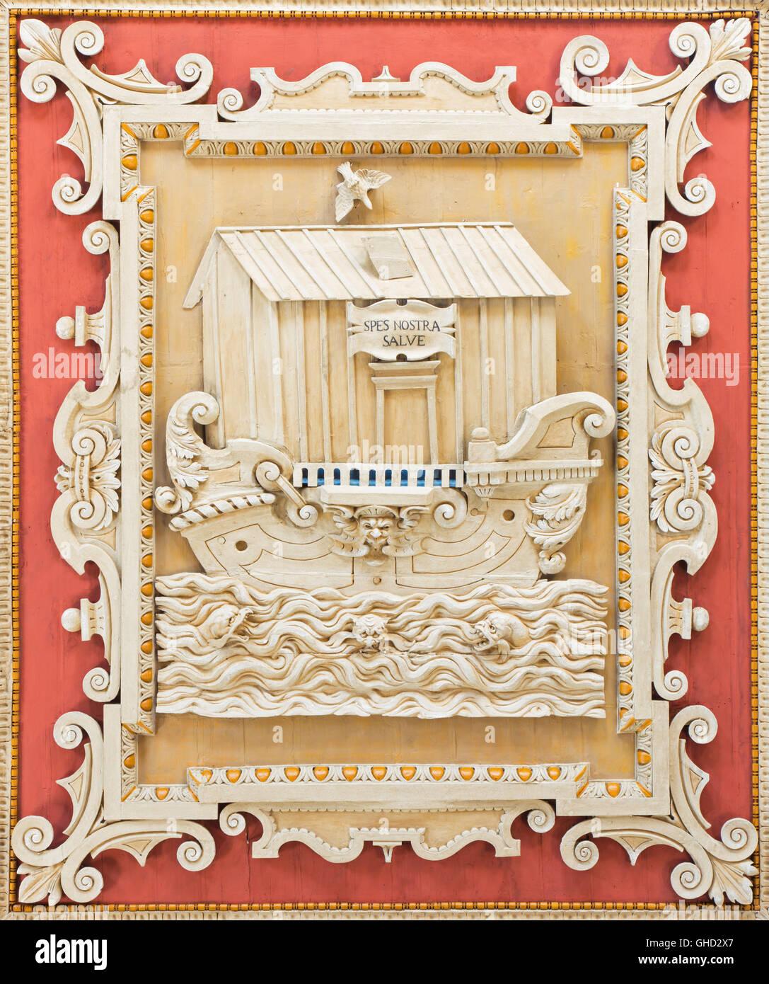 Rom Italien 2016 Detail Der Decke Kassettendecke Geschnitzte
