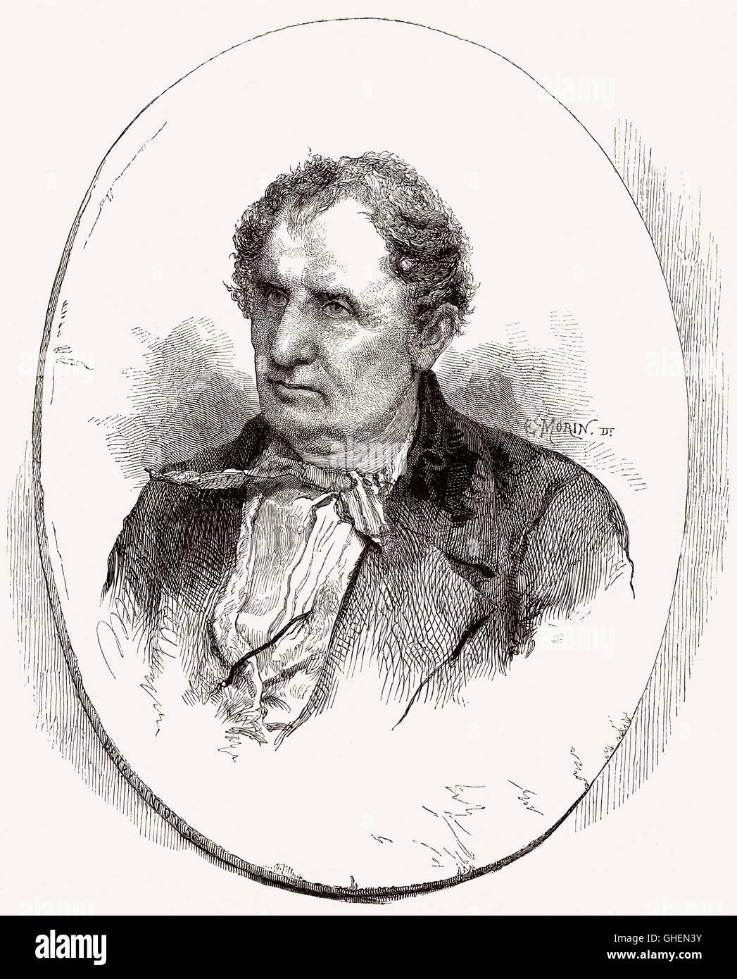 James Fenimore Cooper, 1789-1851, ein amerikanischer Schriftsteller der Romantik, Autor von The Lederstrumpf-Erzählungen Stockbild