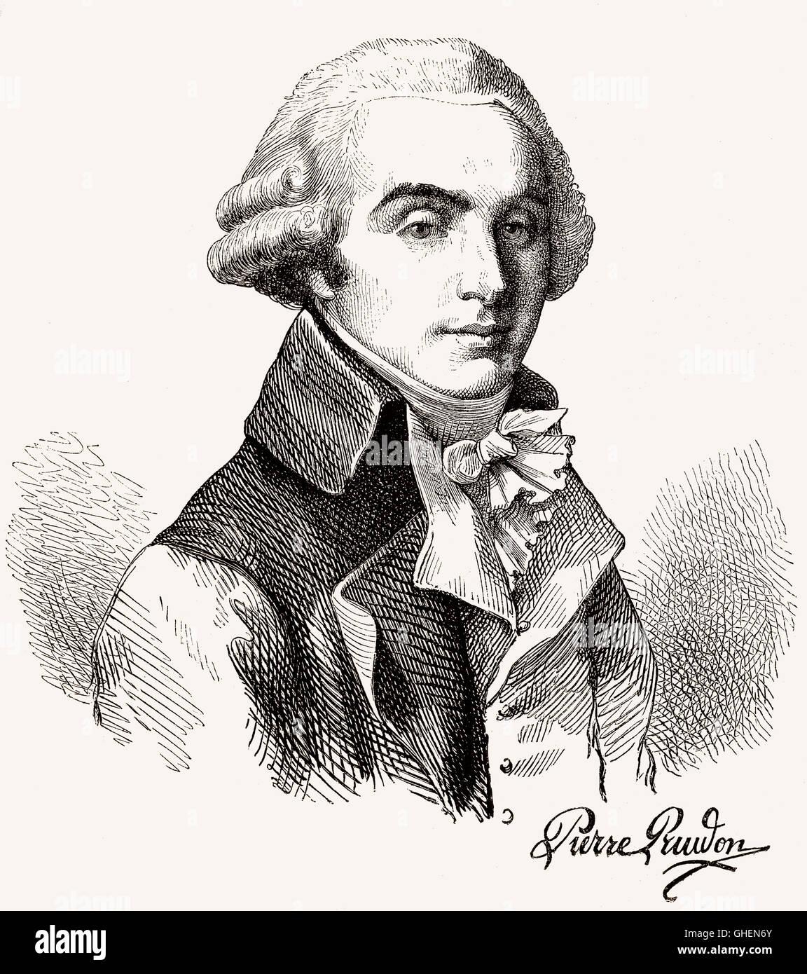 Pierre-Paul Prud'hon, 1758-1823, Französisch romantischen Maler und Zeichner Stockbild