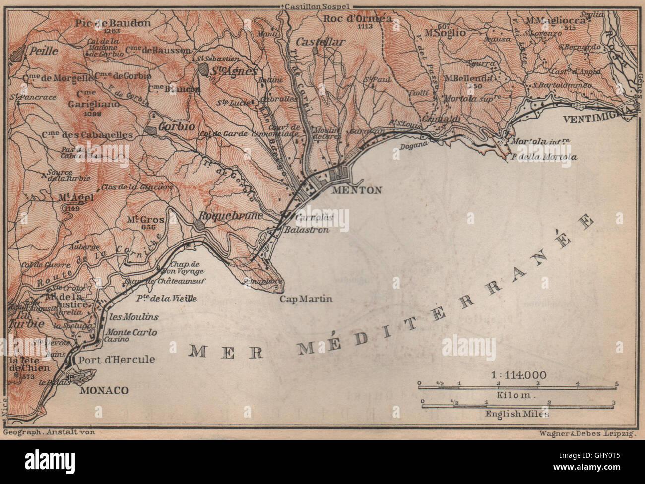 Monaco Italien Karte.Map Of Monaco Stockfotos Map Of Monaco Bilder Alamy