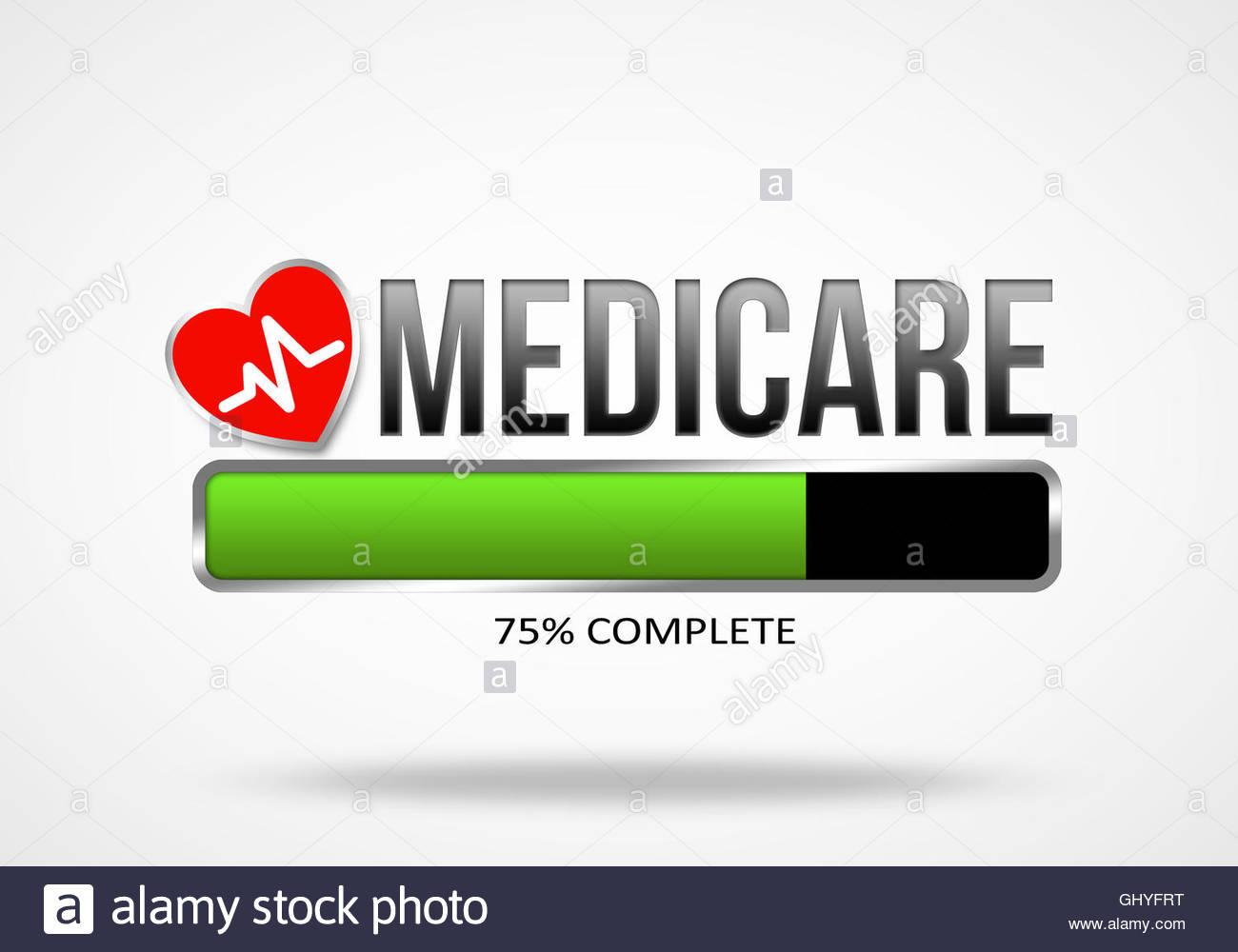 Medicare Illustration Konzept Stockbild