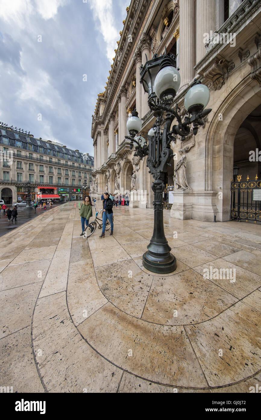 Place de l ' Opera, Paris, Frankreich Stockbild