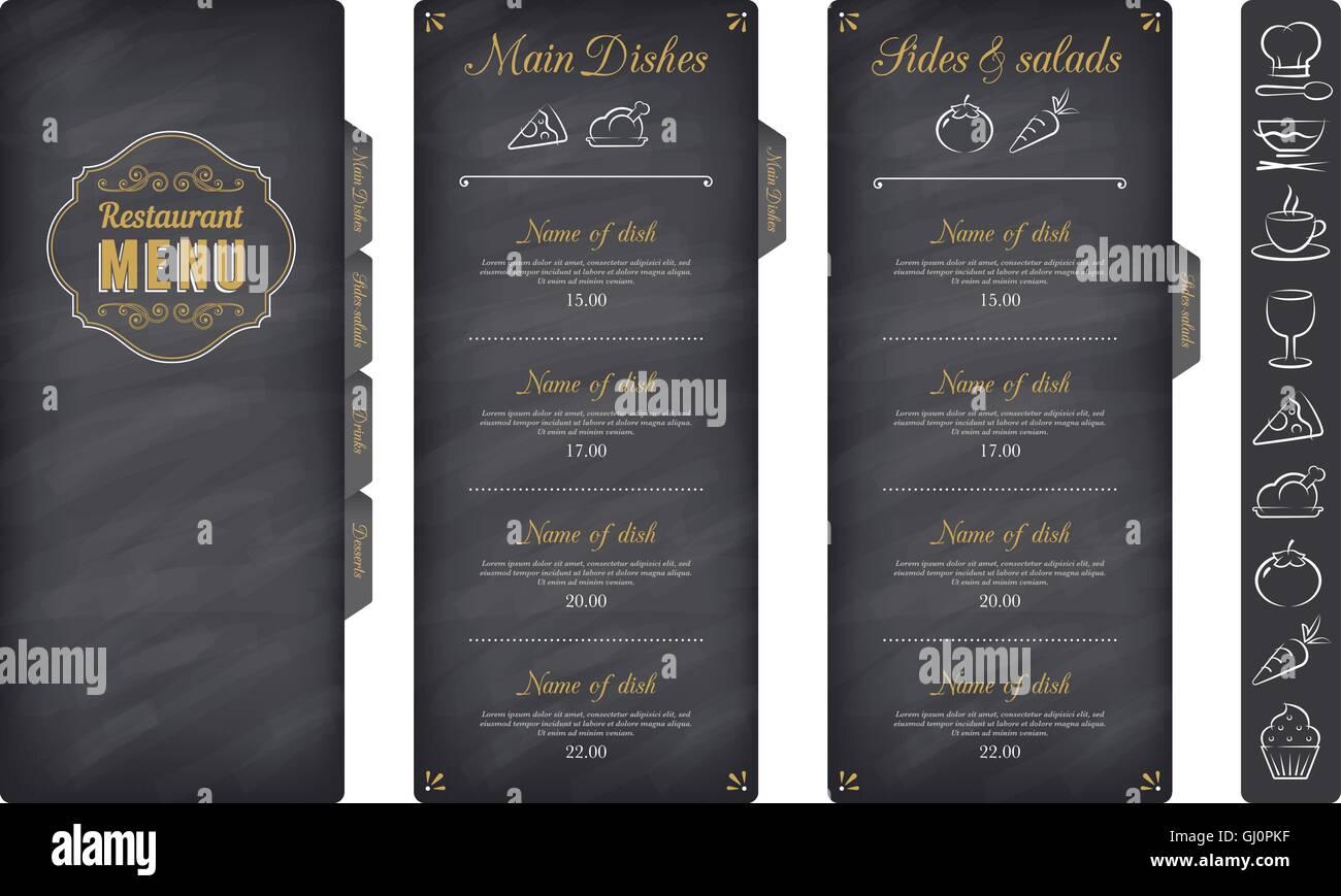 Restaurant Menu Elegant Design Vector Stockfotos & Restaurant Menu ...