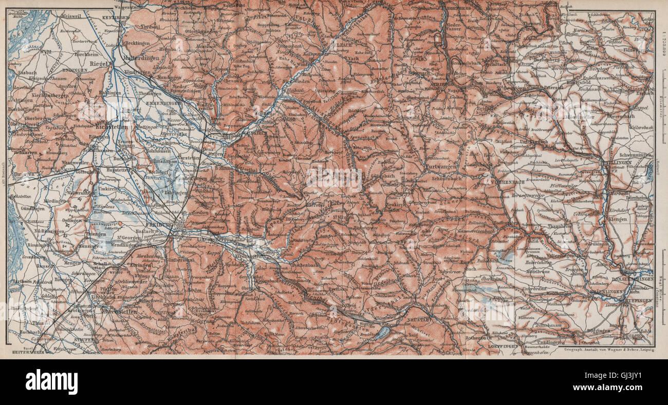 Südschwarzwald Karte.Südschwarzwald Südlichen Schwarzwald Freiburg Villingen
