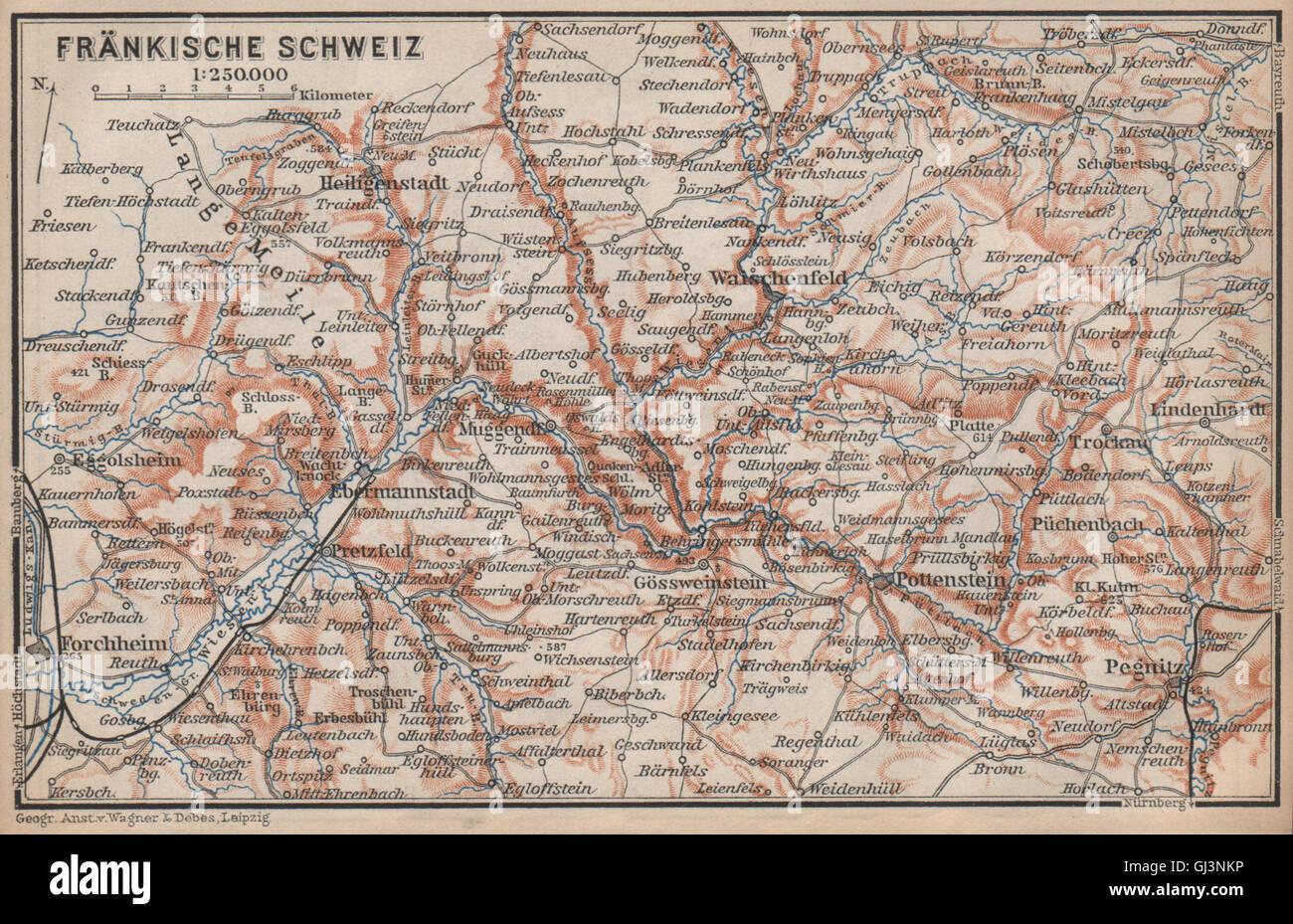 Fränkische Schweiz Karte.Fränkische Schweiz Fränkische Schweiz Topo Karte Deutschland Karte