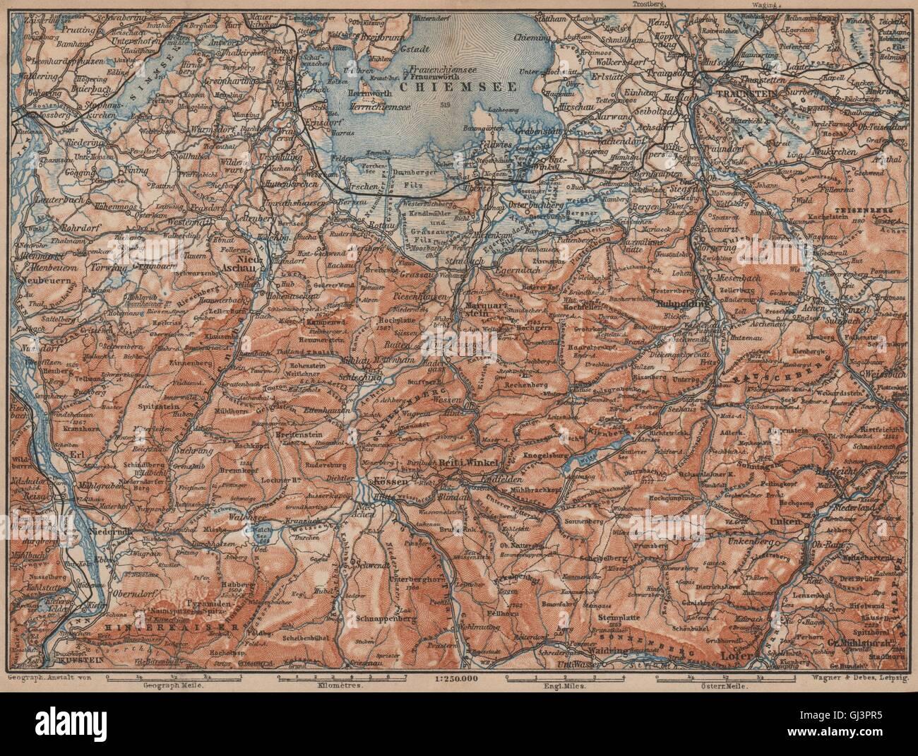 Chiemsee Karte.Chiemsee Chiemgau Umgebung Kufstein Traunstein Lofer Kössen