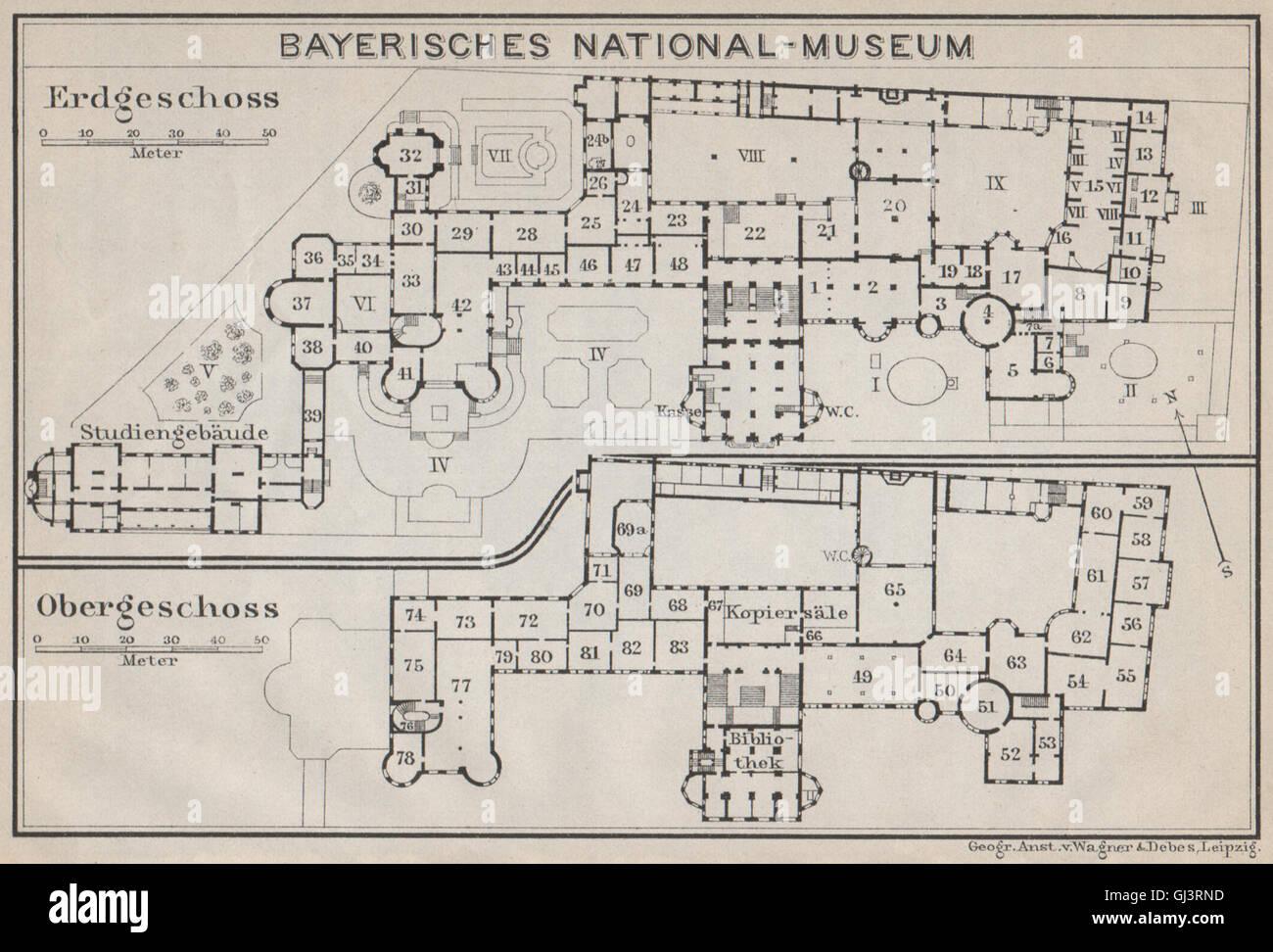 München Karte Bayern.Bayern Bayerischen Nationalmuseum Grundriss München München Karte