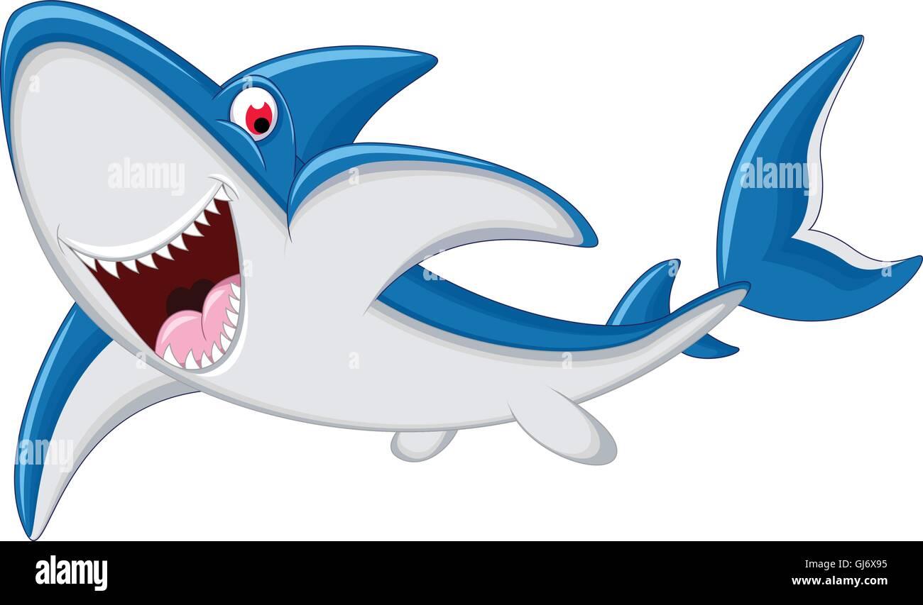 Cute Shark Cartoon Animal Stockfotos & Cute Shark Cartoon