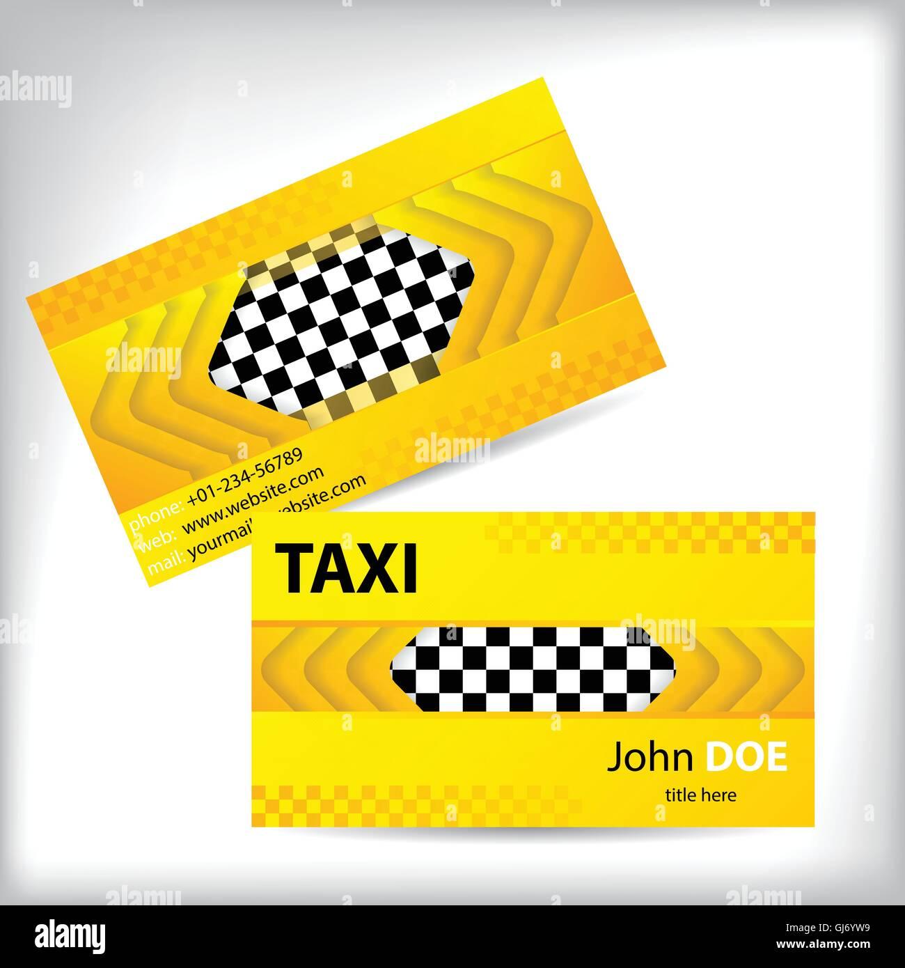 Abstrakte Taxi Visitenkarten Design Vektor Abbildung Bild
