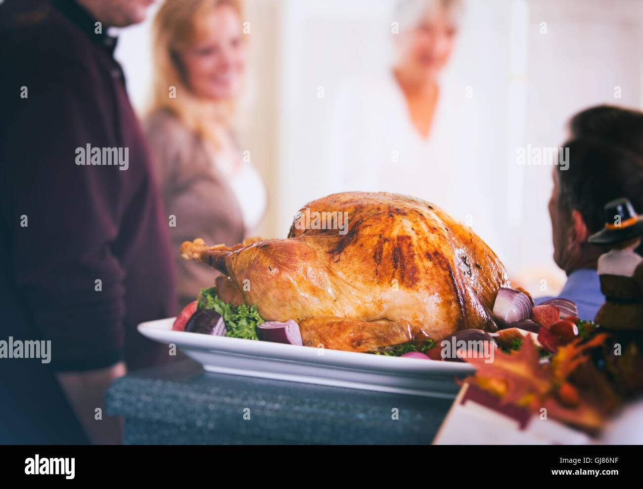 Traditional Thanksgiving Dinner Usa Stockfotos & Traditional ...