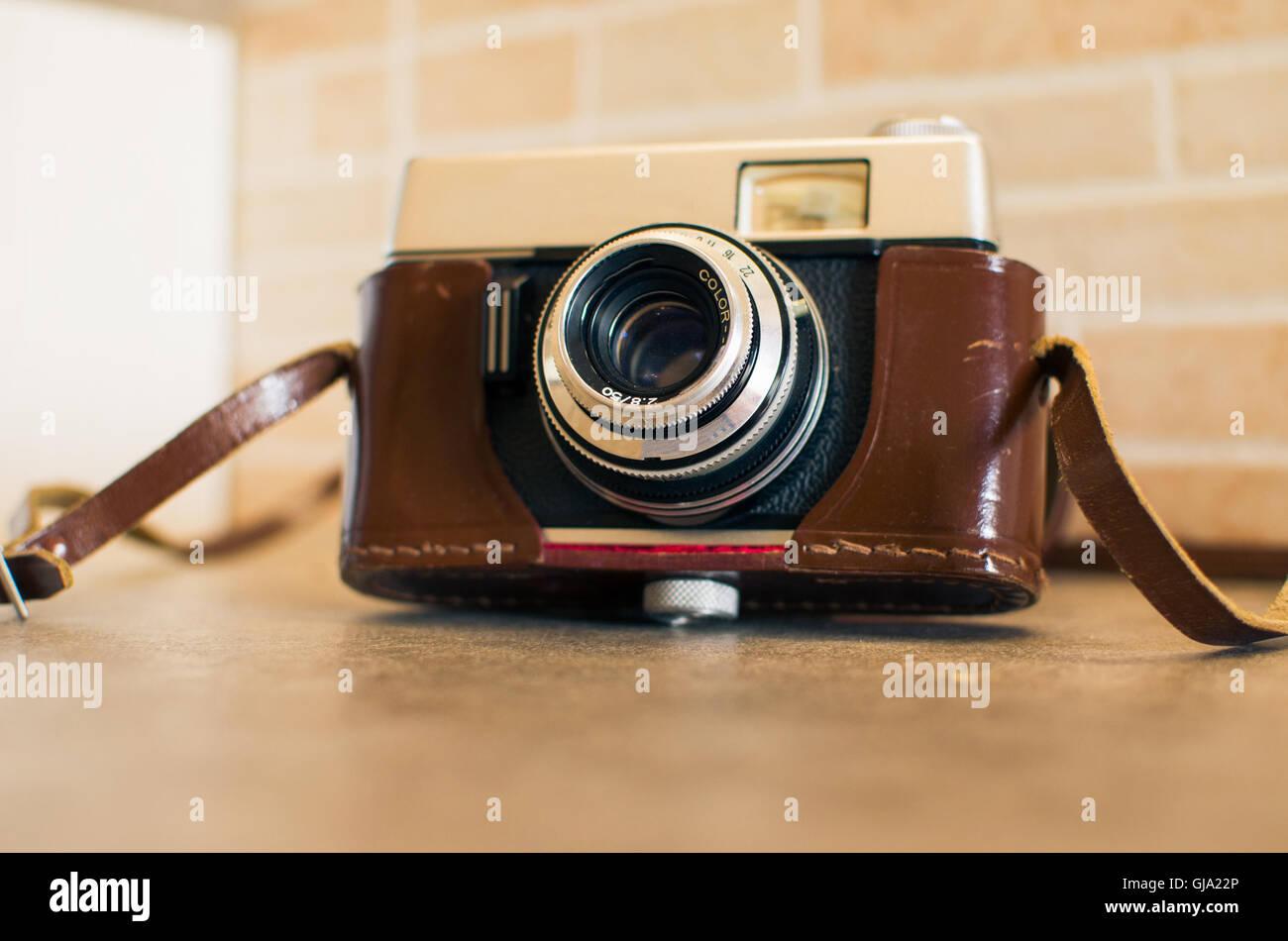 Vintage-Kameragehäuse Stockbild