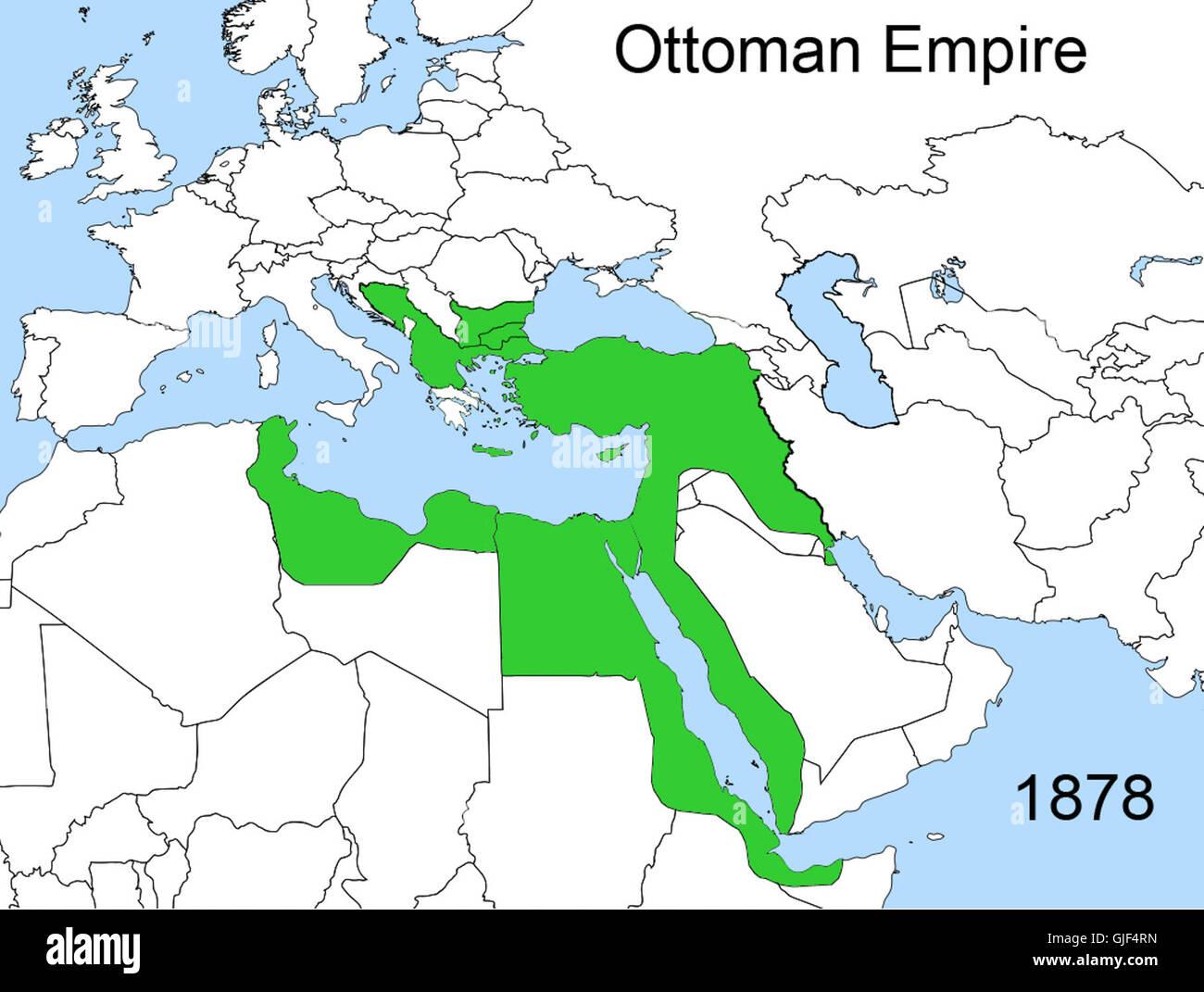 Osmanisches Reich Karte 1914.Ottoman Empire Postage Stamp Stockfotos Ottoman Empire Postage