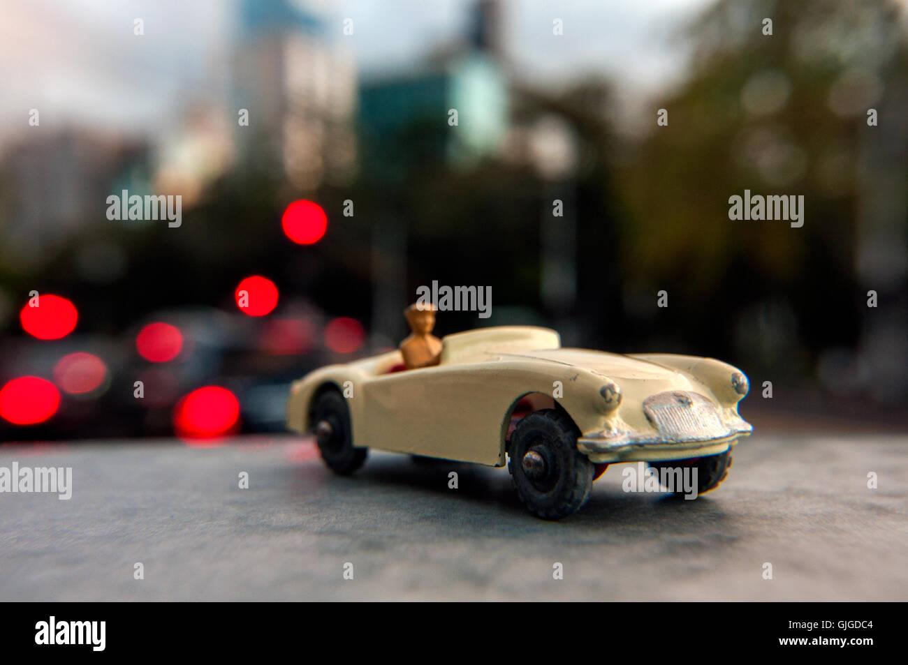Retro-MGA Modellauto, Melbourne, Victoria, Australien Stockbild
