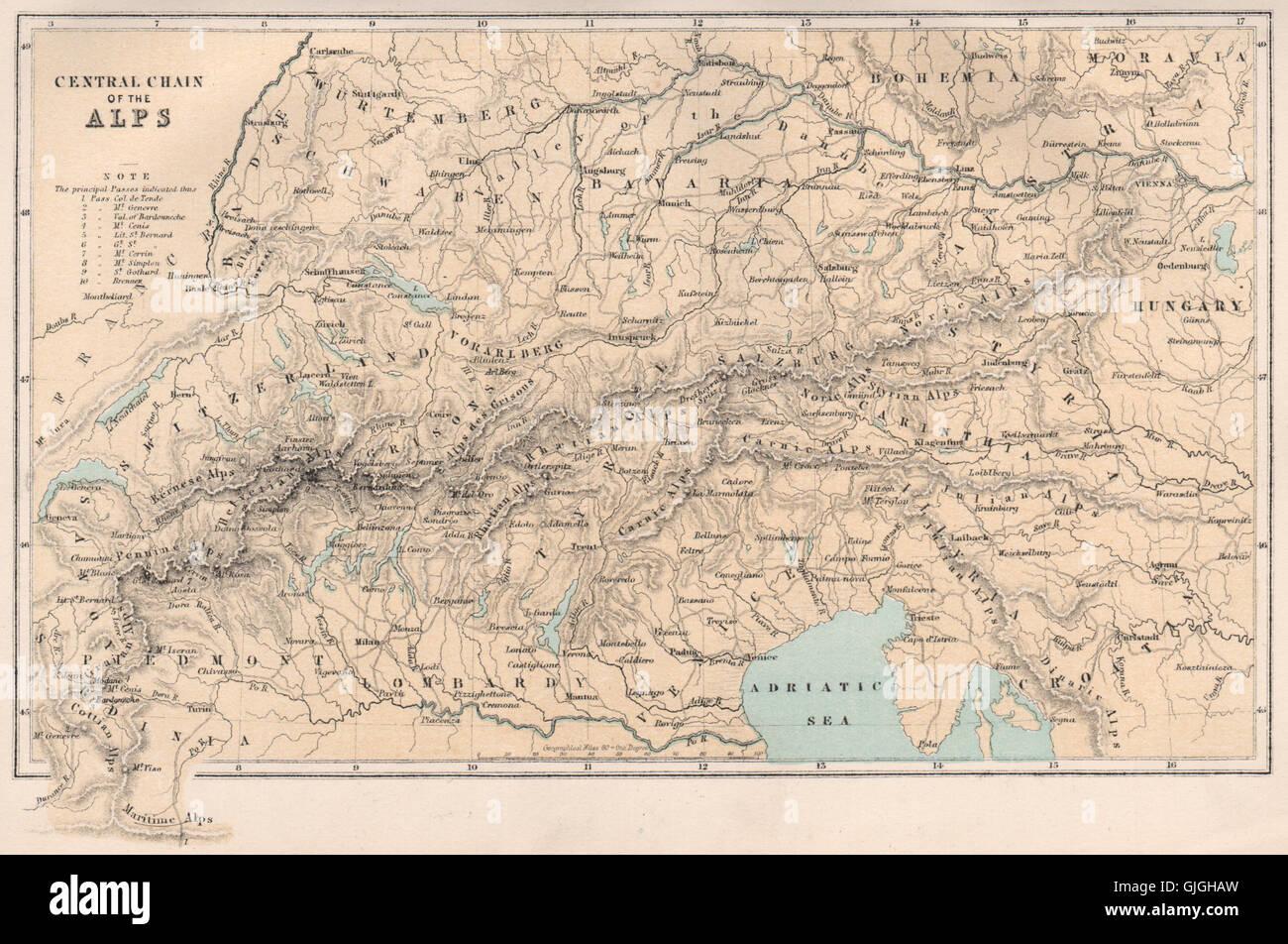Karte Italien Frankreich.Der Alpen Europa Schweiz Italien Frankreich österreich