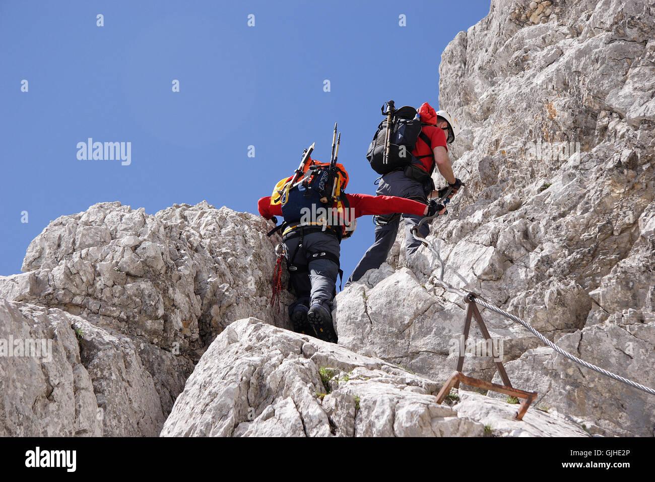 Klettersteigset Zugspitze : Klettersteig zur zugspitze stockfoto bild alamy
