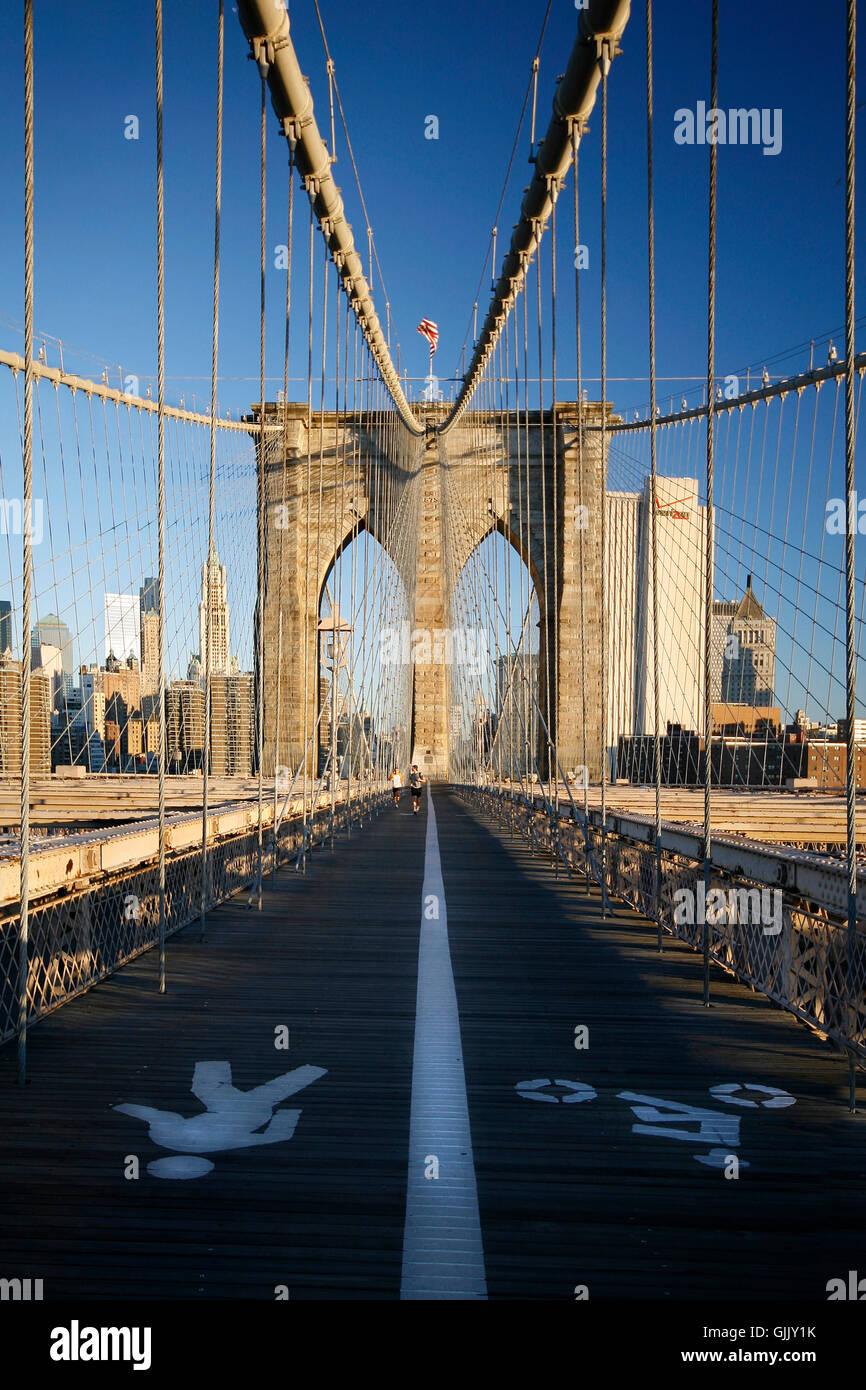 Brooklyn Brücke Brücke New York Stockbild