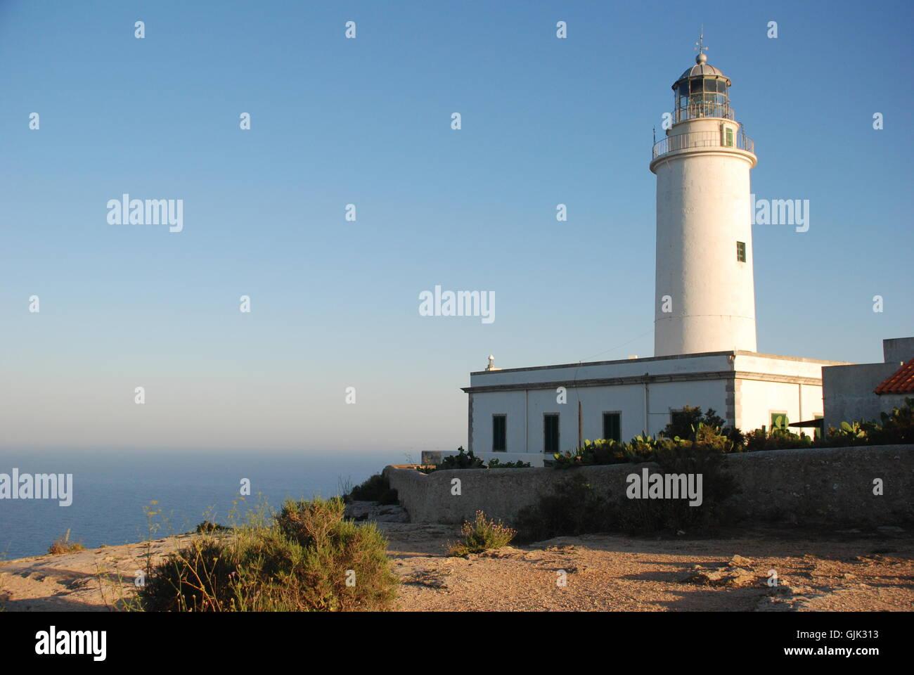 Leuchtturm - la mola Stockbild