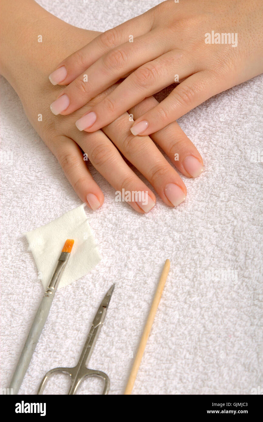 Clean Fingernails Stockfotos & Clean Fingernails Bilder - Alamy
