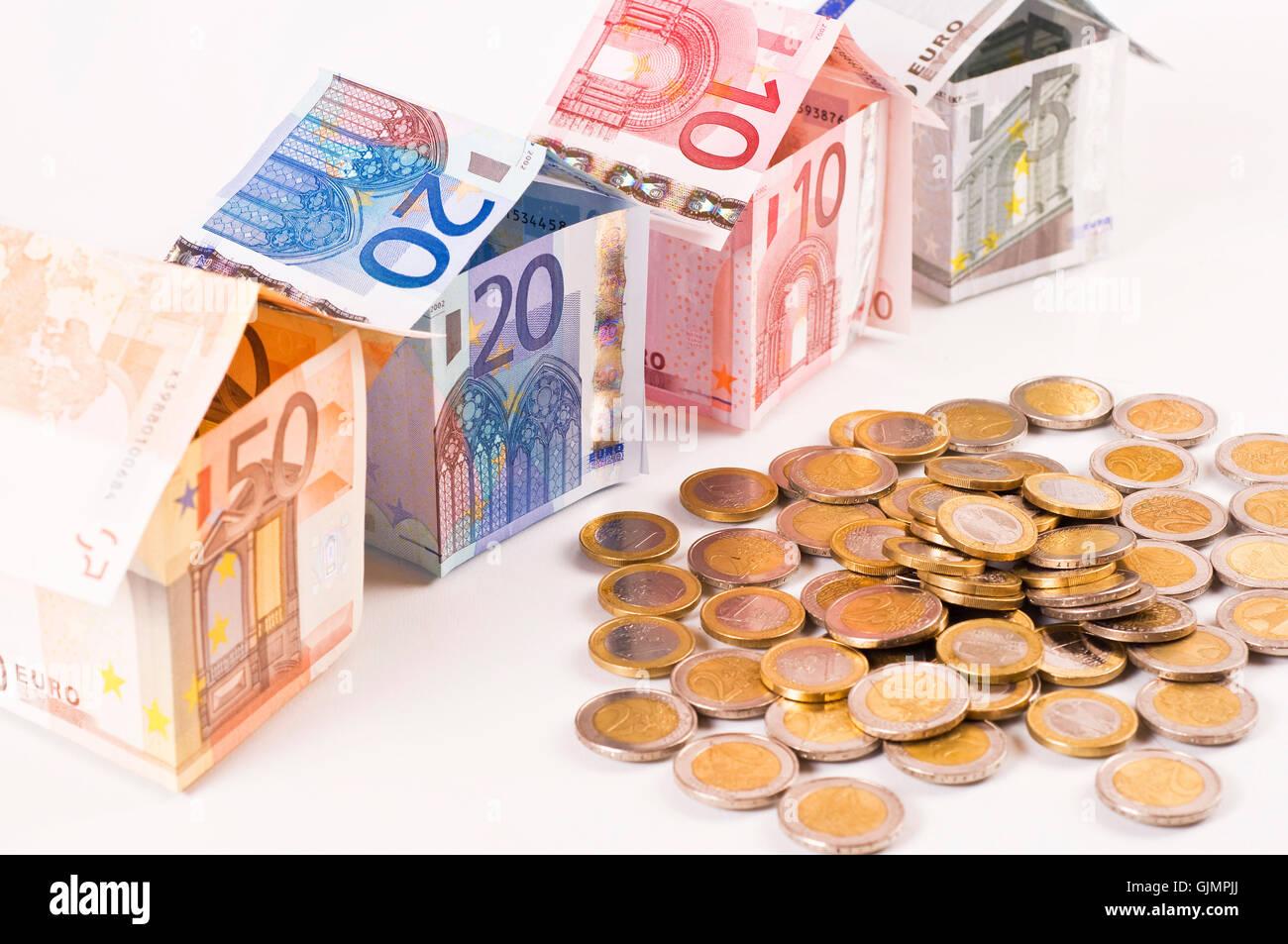 Immobilien-Finanzierung Stockbild