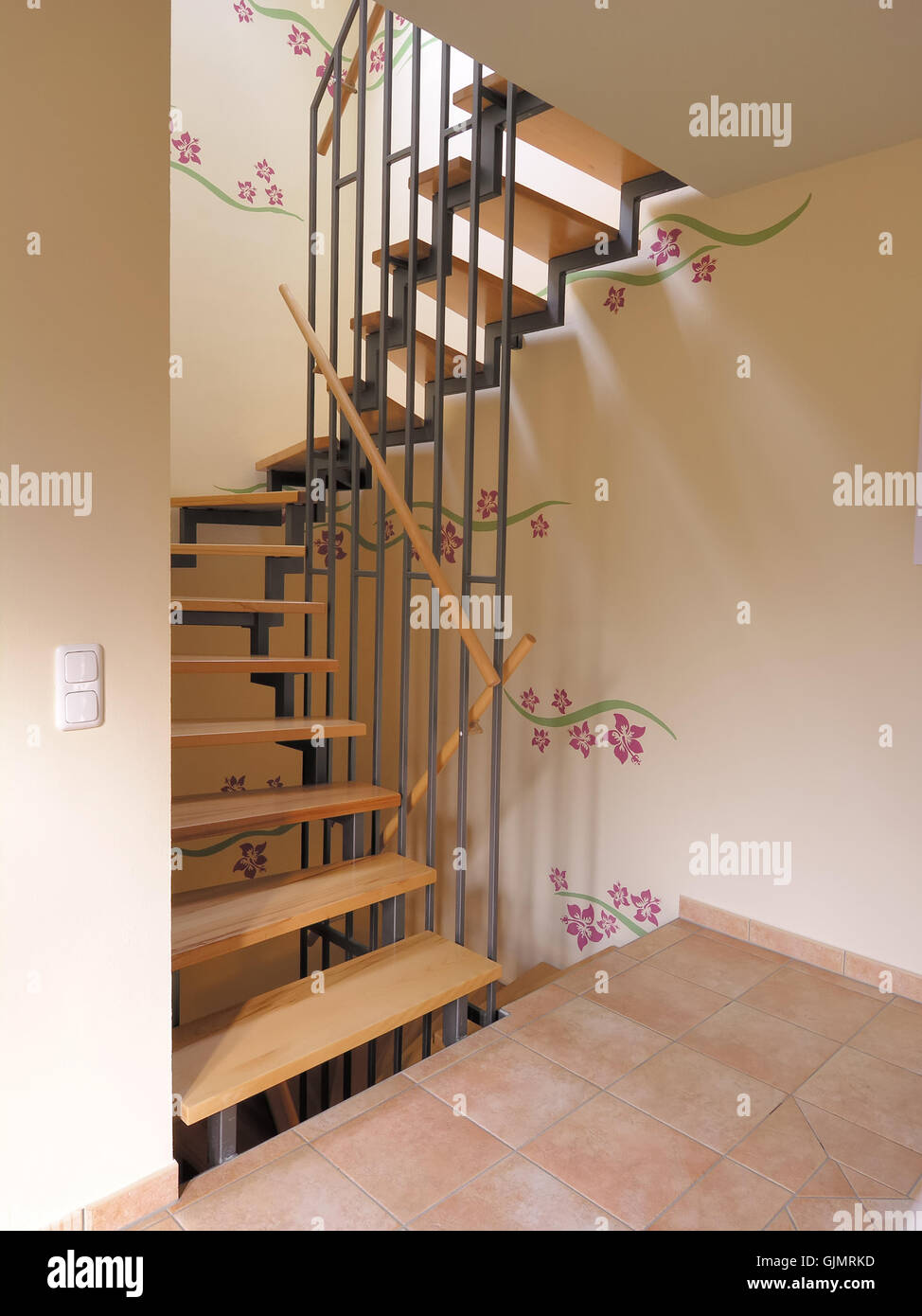 moderne treppen farbe stockfoto, bild: 114783633 - alamy