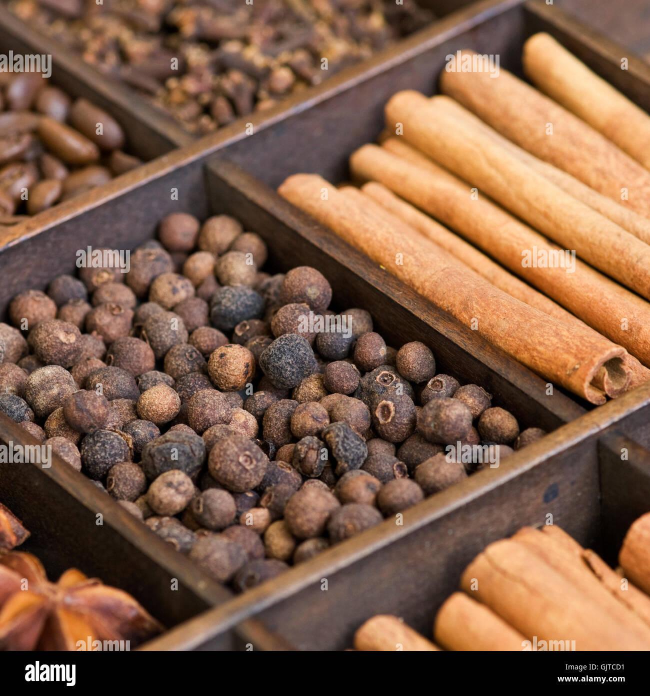 Gewürz-Sortiment-Piment Stockbild