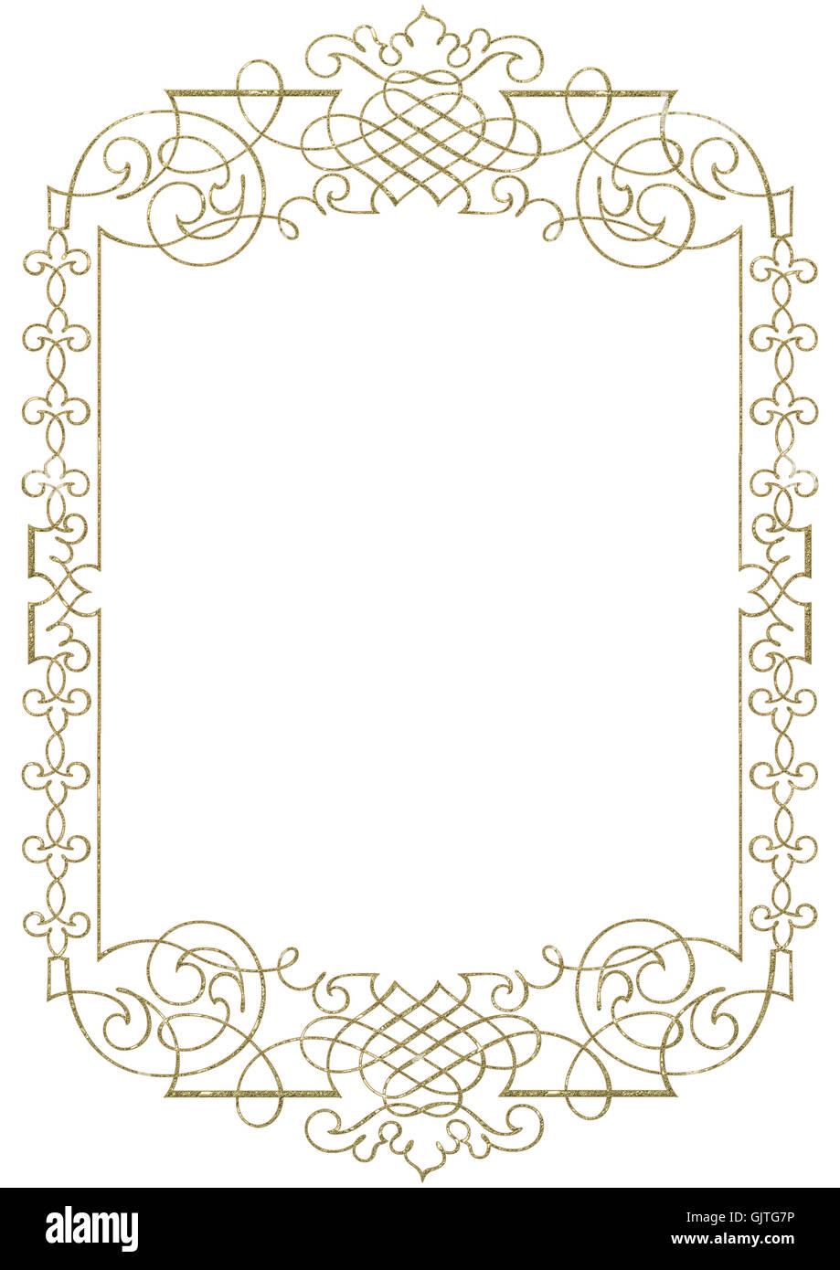 Ornament Rahmen gold Stockfoto, Bild: 114865626 - Alamy