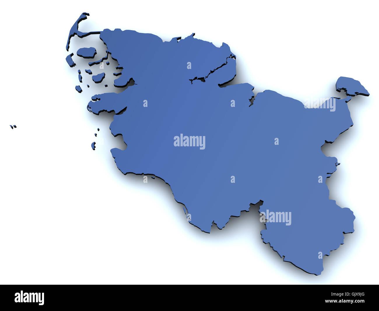 Schleswig Holstein Karte.Karte Von Schleswig Holstein Stockfoto Bild 114904344 Alamy
