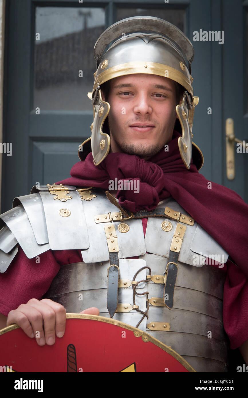 Römischer Soldat Erlasses, Split, Kroatien, Dalmatien, Diokletian Palast Stockbild
