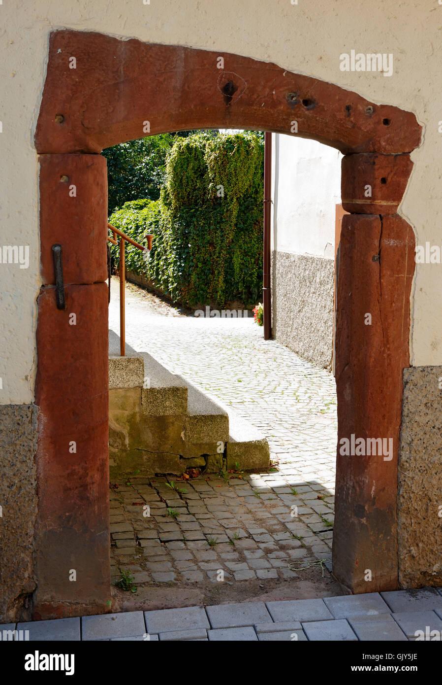 Unglaublich Wanddurchbruch Ideen Von Rhein-main-gebiet, Rheinland-pfalz, D-worms-ibersheim, Ibersheim Dorf, Historischen Gateway