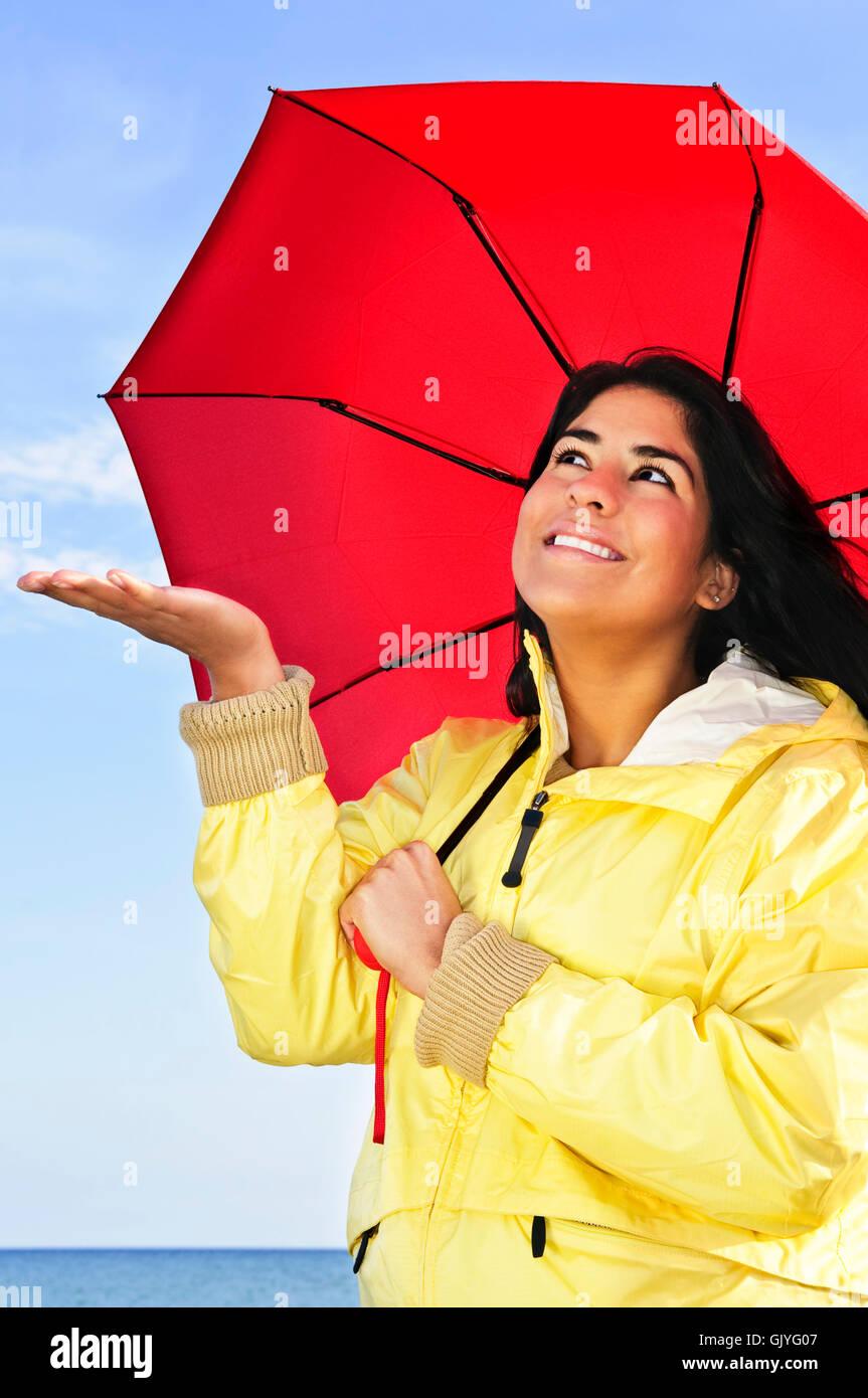 Frau Regenschirm Prognose Stockfoto Bild 114931271 Alamy