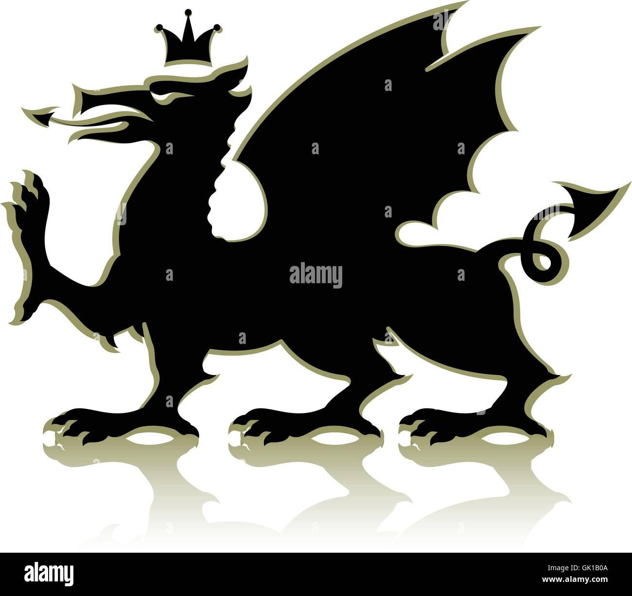 Dragon Illustration Medieval Stockfotos & Dragon Illustration ...