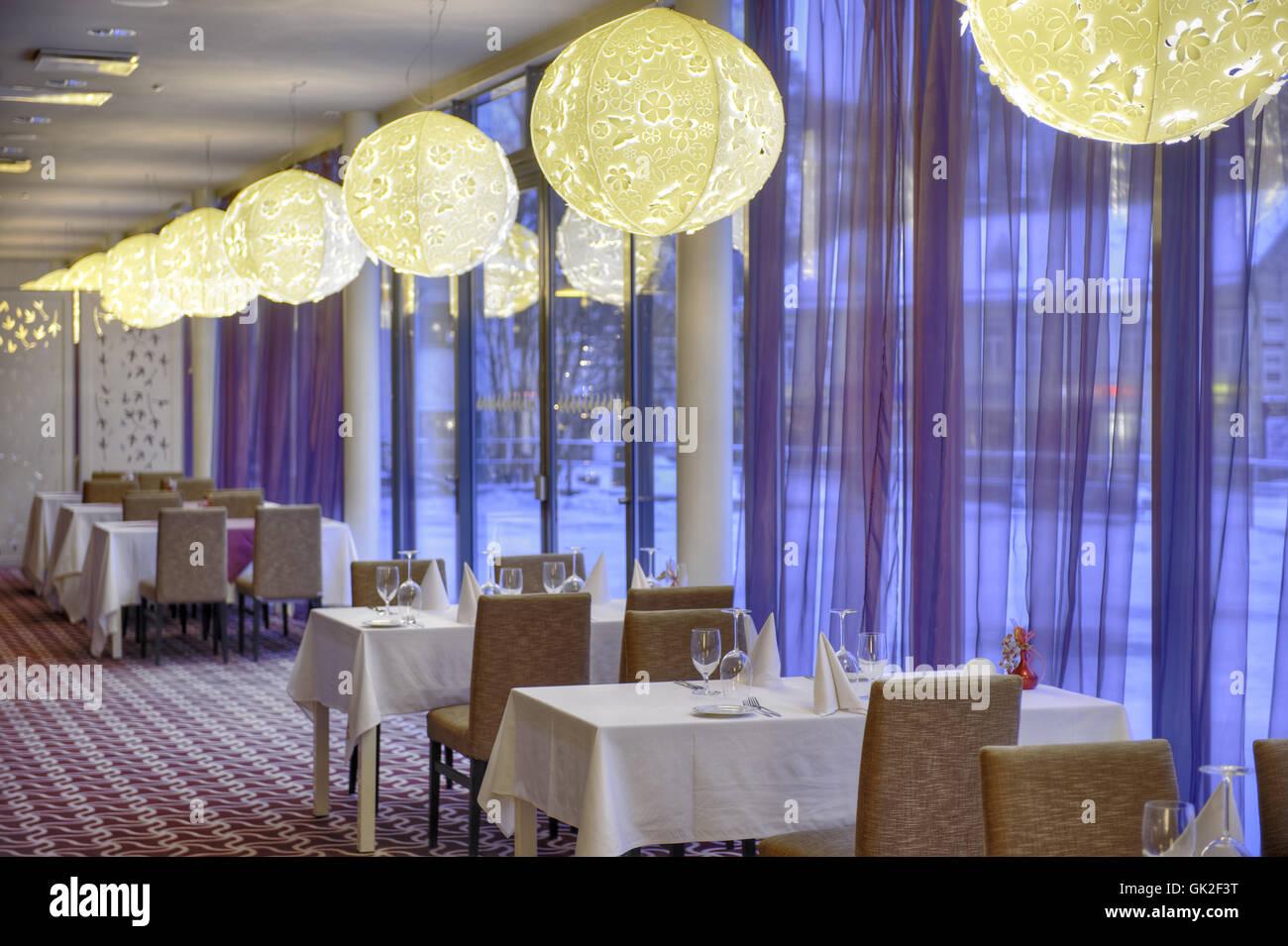 Business Hotel-Restaurant Abendessen Design Interieur Café Glanz ...