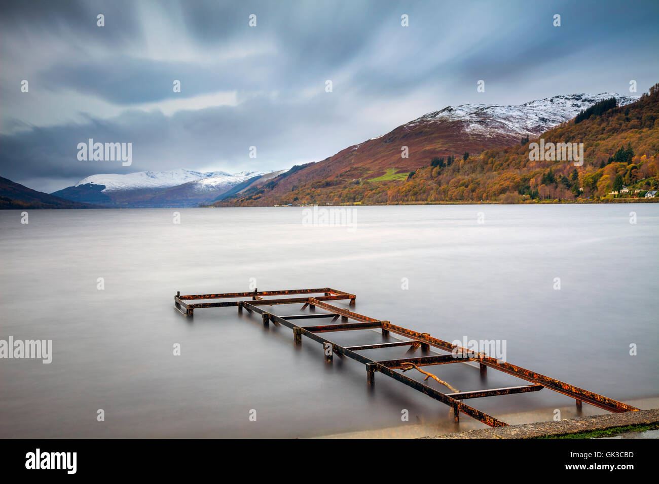 Loch Earn in den schottischen Highlands Stockbild